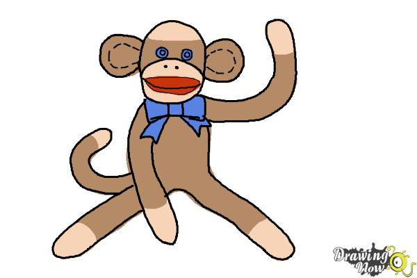 How to Draw a Sock Monkey - Step 14