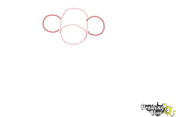 How to Draw a Sock Monkey - Step 3