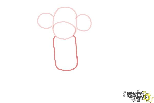 How to Draw a Sock Monkey - Step 4