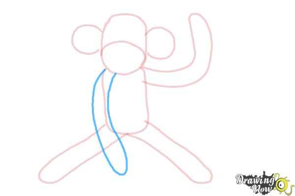 How to Draw a Sock Monkey - Step 7