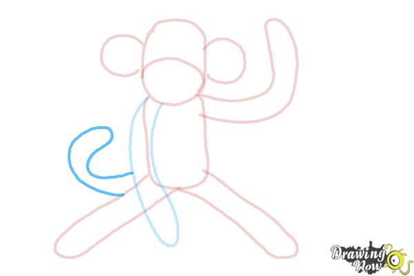 How to Draw a Sock Monkey - Step 8