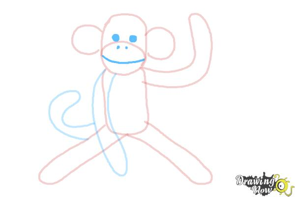 How to Draw a Sock Monkey - Step 9
