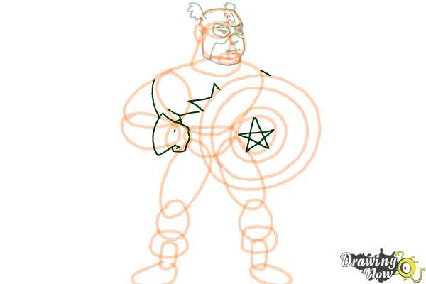 How to Draw a Superhero - Step 14