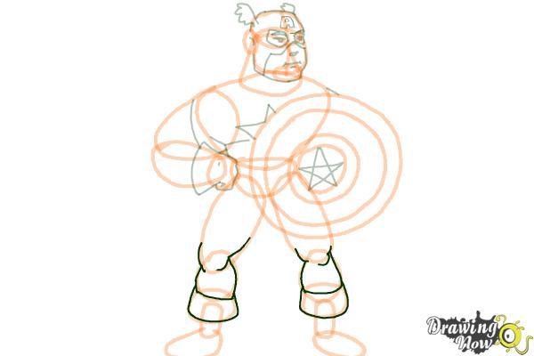 How to Draw a Superhero - Step 15