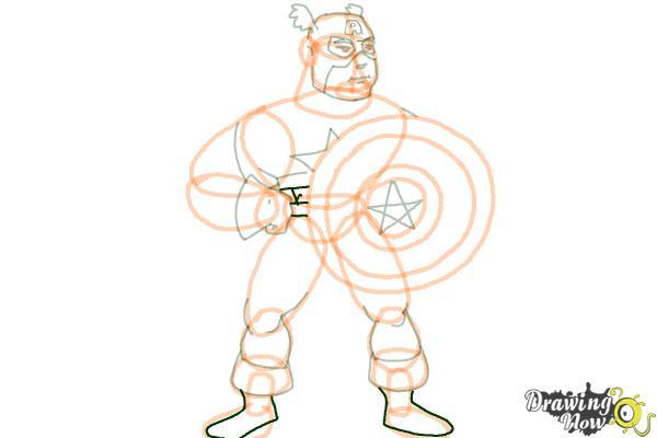 How to Draw a Superhero - Step 16