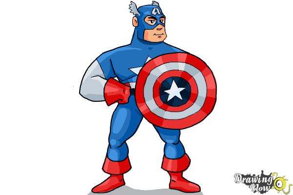 How to Draw a Superhero - Step 18
