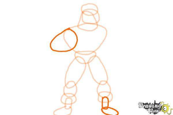 How to Draw a Superhero - Step 7