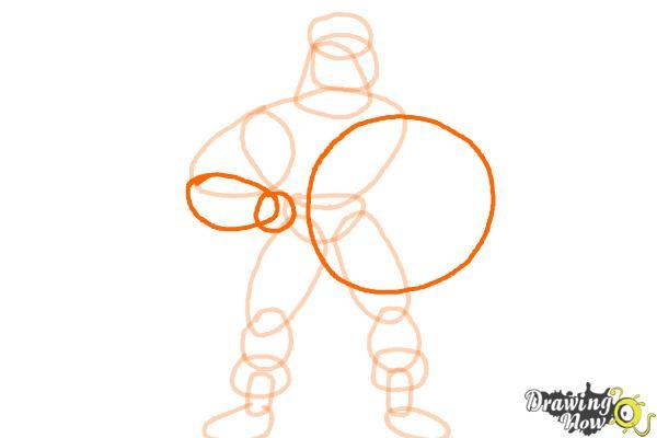 How to Draw a Superhero - Step 8