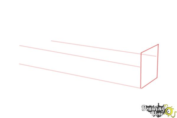 How to Draw a Sofa - Step 2