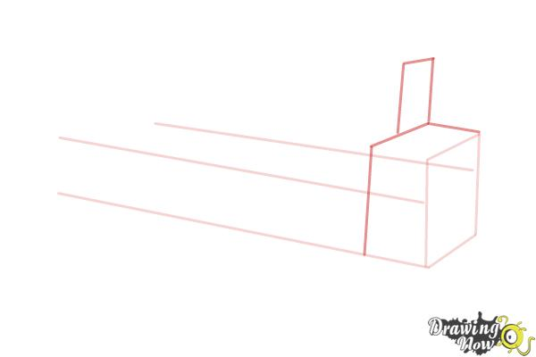 How to Draw a Sofa - Step 3