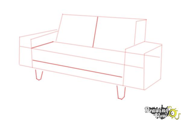 How to Draw a Sofa - Step 5