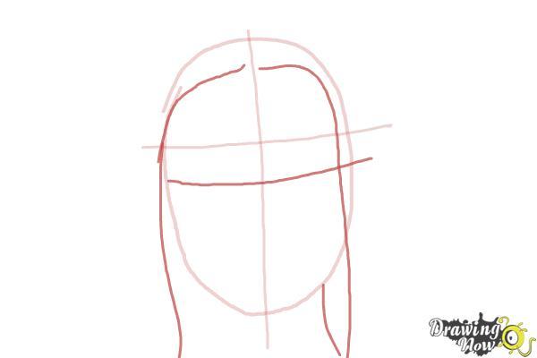 How to Draw Jaimie Alexander - Step 2