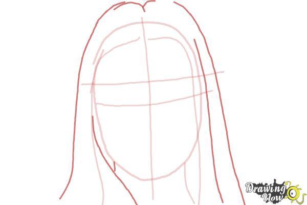 How to Draw Jaimie Alexander - Step 3