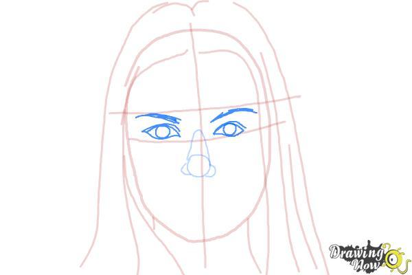 How to Draw Jaimie Alexander - Step 5