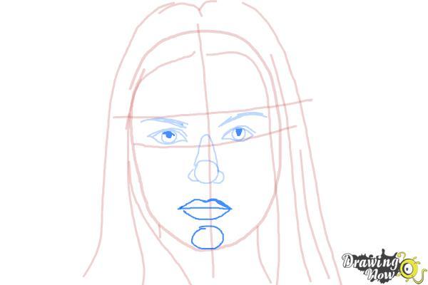How to Draw Jaimie Alexander - Step 6