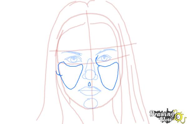 How to Draw Jaimie Alexander - Step 7