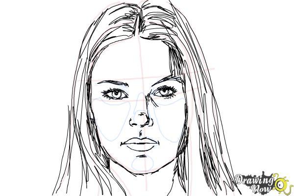 How to Draw Jaimie Alexander - Step 8