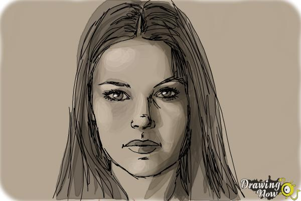 How to Draw Jaimie Alexander - Step 9
