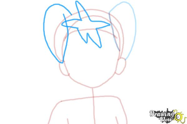 How to Draw Shauna from Pokemon X And Y - Step 5