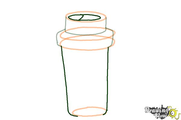 How to Draw a Starbucks Cup - Step 4