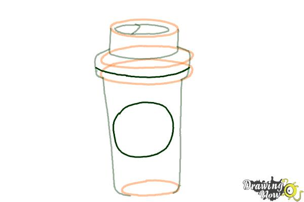 How to Draw a Starbucks Cup - Step 5