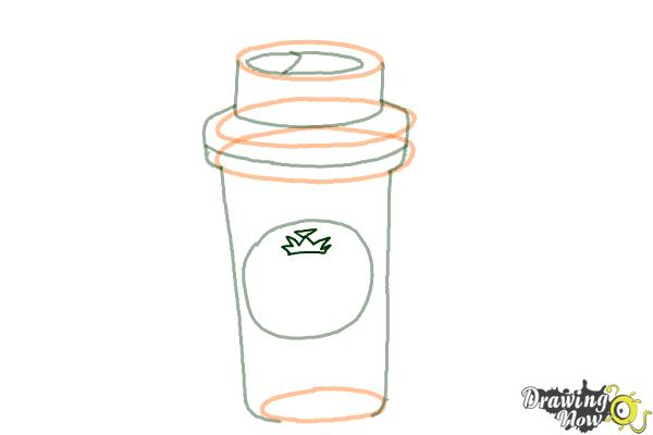 How to Draw a Starbucks Cup - Step 6