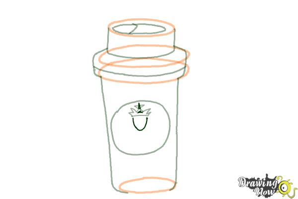 How to Draw a Starbucks Cup - Step 7