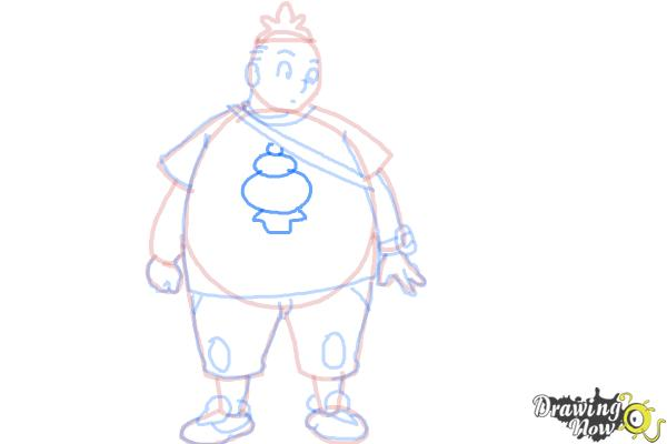 How to Draw Tierno from Pokemon X And Y - Step 12
