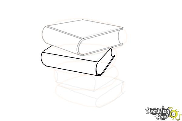 How to Draw a Stack Of Books - Step 10