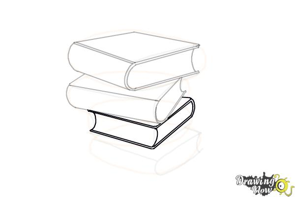 How to Draw a Stack Of Books - Step 11