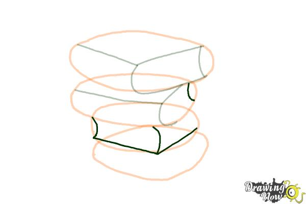 How to Draw a Stack Of Books - Step 7