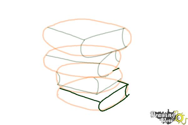 How to Draw a Stack Of Books - Step 8