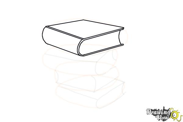 How to Draw a Stack Of Books - Step 9