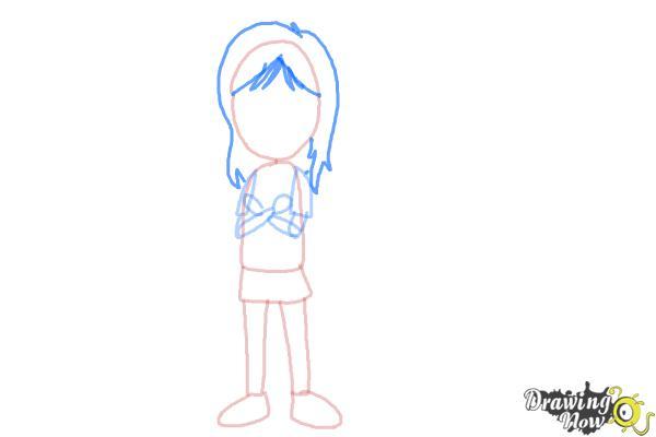 How to Draw a Teenage Girl - Step 4