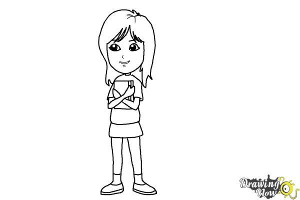 How to Draw a Teenage Girl - Step 7