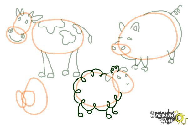 How to Draw Stick Animals - Step 10