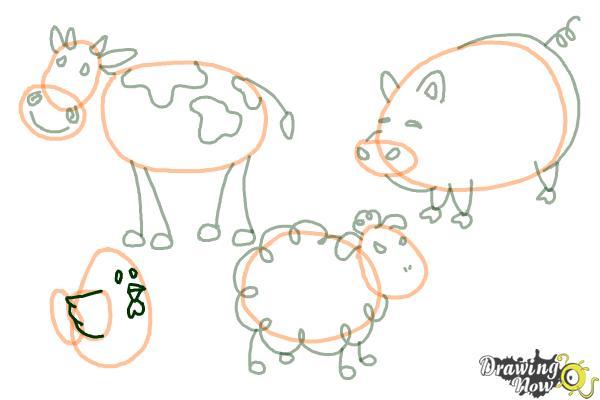 How to Draw Stick Animals - Step 11