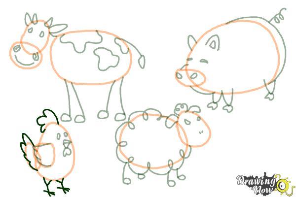 How to Draw Stick Animals - Step 12