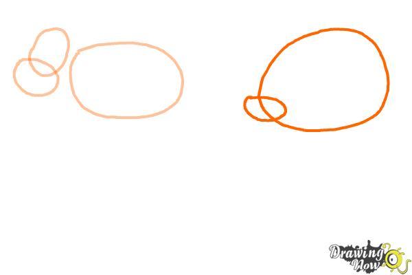 How to Draw Stick Animals - Step 2