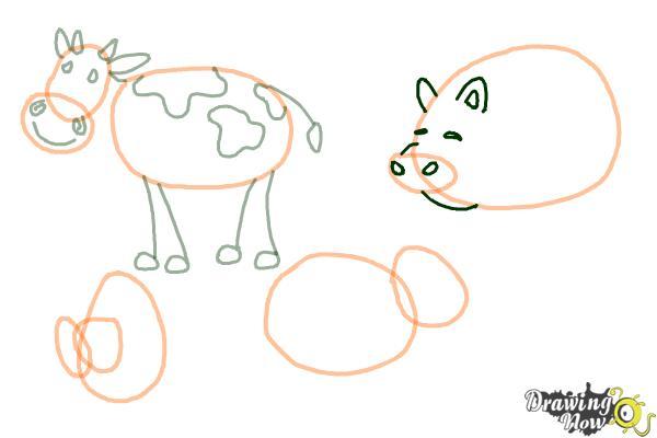 How to Draw Stick Animals - Step 7
