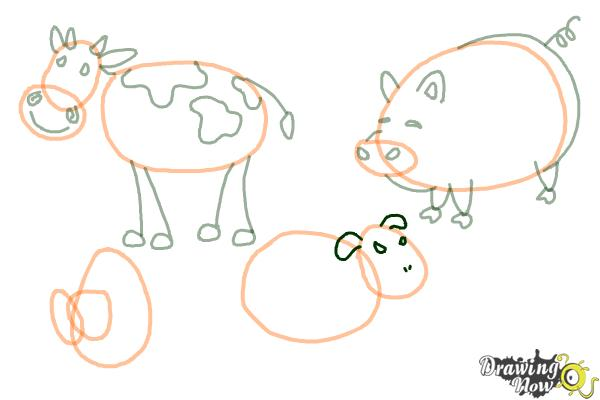 How to Draw Stick Animals - Step 9