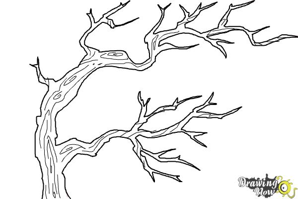 How to Draw Tree Branches - Step 9