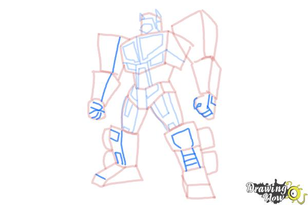 How to Draw Transformers Prime - Step 11