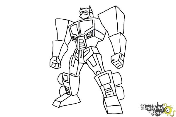 How to Draw Transformers Prime - Step 12