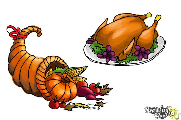 How to Draw Thanksgiving Things - Step 13