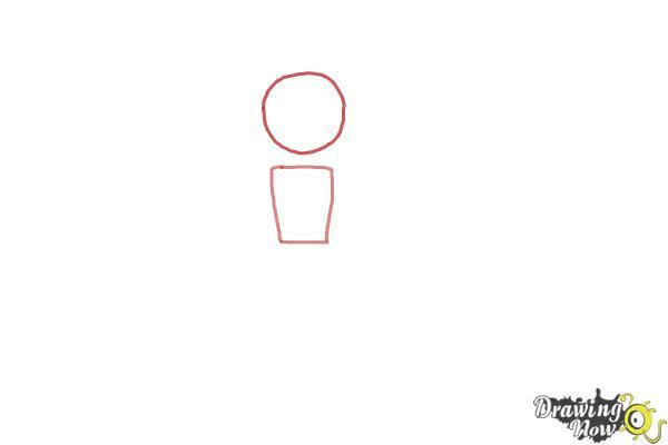 How to Draw a Nutcracker - Step 1