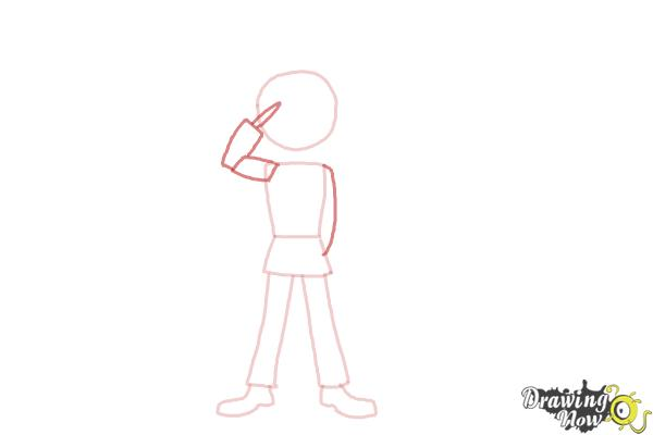 How to Draw a Nutcracker - Step 3