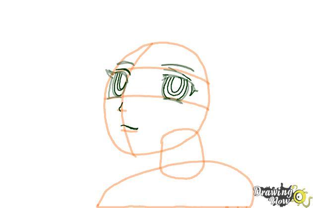 How to Draw Kurumu Korono from Rosario + Vampire - Step 4