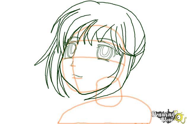 How to Draw Kurumu Korono from Rosario + Vampire - Step 5