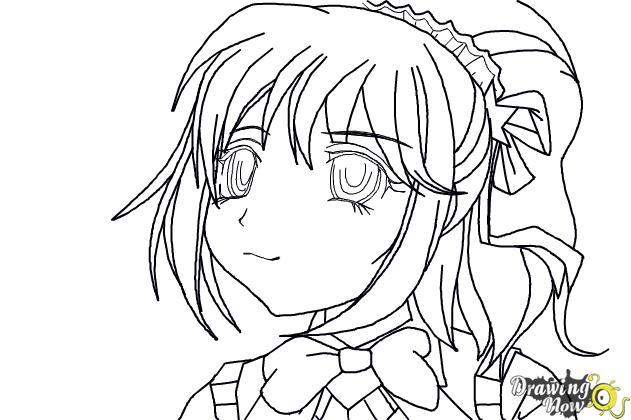 How to Draw Kurumu Korono from Rosario + Vampire - Step 8